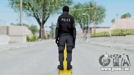GTA 5 S.W.A.T. Police pour GTA San Andreas troisième écran