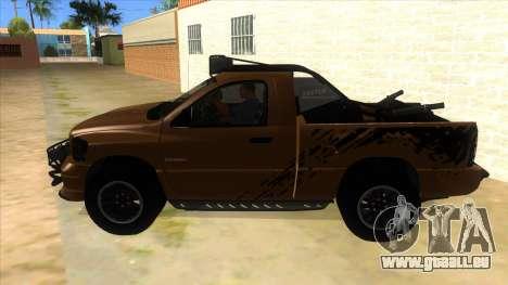 Dodge Ram SRT DES 2012 pour GTA San Andreas laissé vue