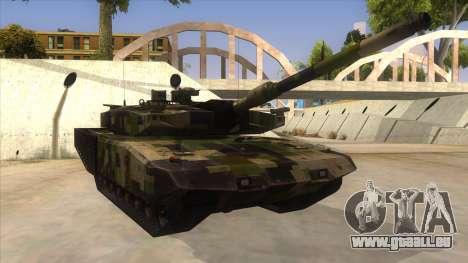 MBT52 Kuma pour GTA San Andreas vue arrière