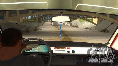Dacia 1310 pour GTA San Andreas vue intérieure