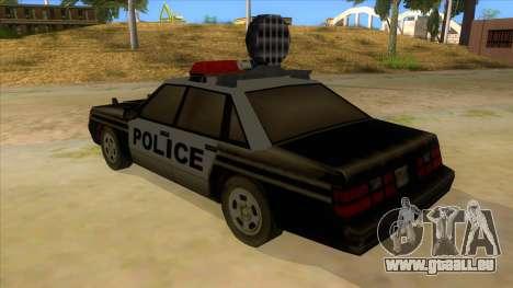 Police Car from Manhunt 2 für GTA San Andreas zurück linke Ansicht