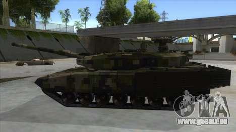 MBT52 Kuma pour GTA San Andreas laissé vue