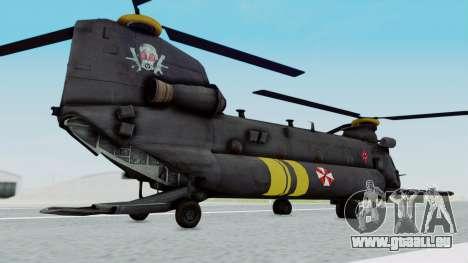 MH-47 Umbrella U.S.S pour GTA San Andreas laissé vue