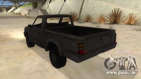 Toyota Hilux Militia für GTA San Andreas zurück linke Ansicht