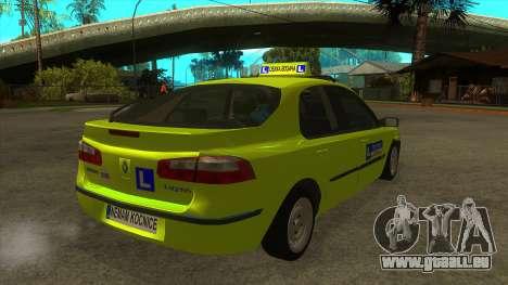 Renault Laguna Mk2 Vitesse Automatique Škola pour GTA San Andreas vue de droite