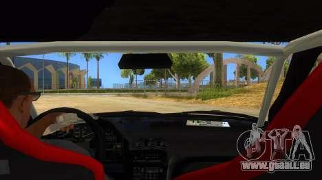 Nissan 240SX Stance Nico Yazawa Itasha Livery pour GTA San Andreas vue intérieure