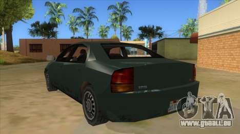 GTA LCS KURUMA pour GTA San Andreas sur la vue arrière gauche