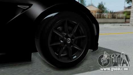 Mazda MX-5 Miata 2016 pour GTA San Andreas sur la vue arrière gauche