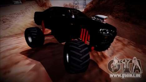 Nissan Skyline R34 Monster Truck für GTA San Andreas Seitenansicht
