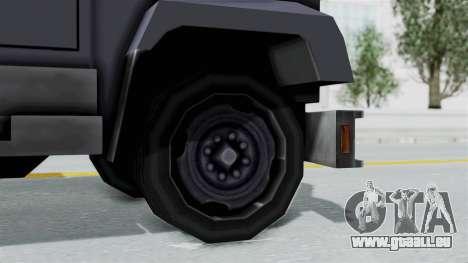 Indonesian Police BRIMOB Enforcer pour GTA San Andreas sur la vue arrière gauche