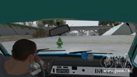 Dacia 1310 Rusty pour GTA San Andreas vue intérieure