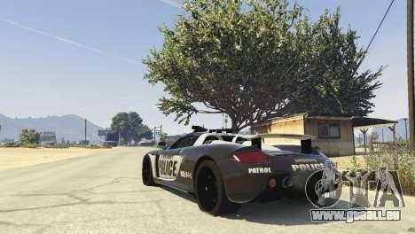 GTA 5 Porsche Carrera GT Cop hinten links Seitenansicht