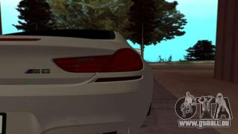 BMW M6 pour GTA San Andreas sur la vue arrière gauche