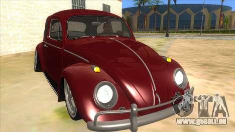 Volkswagen Beetle Aircooled V2 für GTA San Andreas Rückansicht
