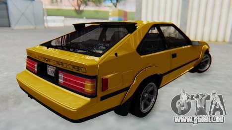 Toyota Celica Supra Mk2 pour GTA San Andreas sur la vue arrière gauche