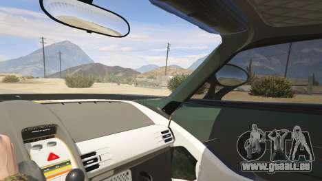 GTA 5 Porsche Carrera GT arrière droit vue de côté