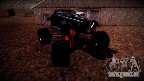 GTA 5 Hotknife Monster Truck pour GTA San Andreas vue de dessous