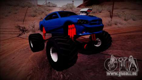2006 Dodge Charger SRT8 Monster Truck für GTA San Andreas rechten Ansicht