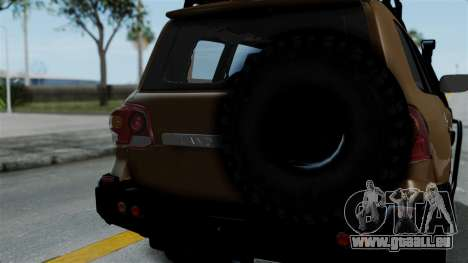 Toyota Land Cruiser 2013 Off-Road für GTA San Andreas Rückansicht