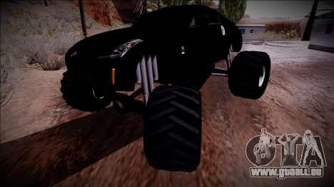 Nissan 350Z Monster Truck für GTA San Andreas obere Ansicht