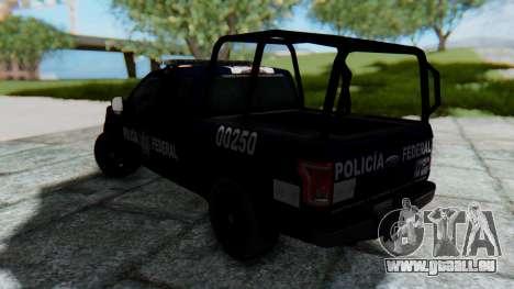 Ford F-150 2015 Policia Federal pour GTA San Andreas laissé vue