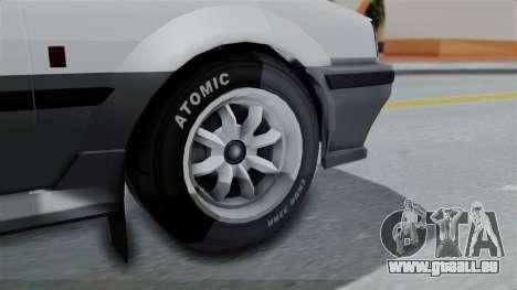 GTA 5 Karin Futo Rally Car v2.0 für GTA San Andreas zurück linke Ansicht