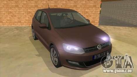 Volkswagen Polo 6R 1.4 pour GTA San Andreas vue arrière