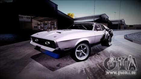 1971 Ford Mustang Drag für GTA San Andreas Rückansicht