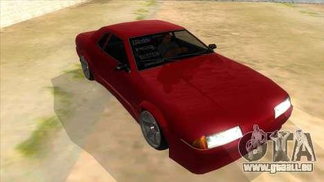GTR Elegy für GTA San Andreas Rückansicht