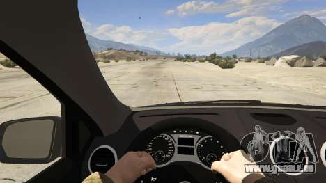 GTA 5 2009 Mercedes-Benz ML63 AMG FBI vue arrière