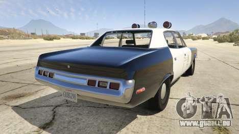 GTA 5 1972 AMC Matador LAPD hinten links Seitenansicht