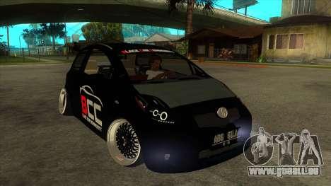 Toyota Yaris (Vitz) [Black Car Community] pour GTA San Andreas vue arrière
