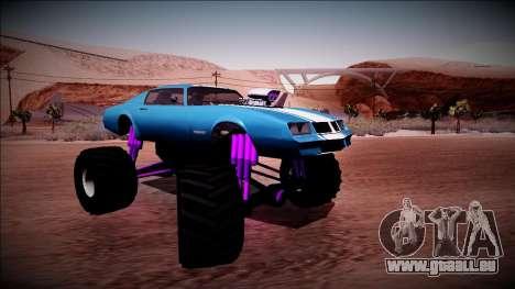GTA 5 Imponte Phoenix Monster Truck pour GTA San Andreas vue de droite