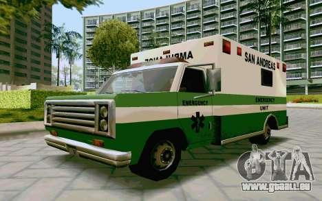 Journey Ambulance für GTA San Andreas zurück linke Ansicht