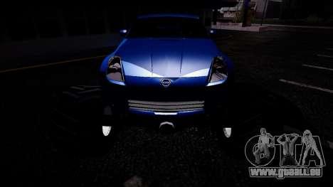 Nissan 350Z Monster Truck für GTA San Andreas Rückansicht