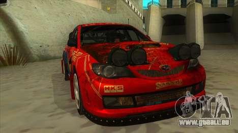 Subaru Impreza WRX STi 2011 ,,Response,, für GTA San Andreas Rückansicht