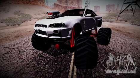 Nissan Skyline R34 Monster Truck für GTA San Andreas