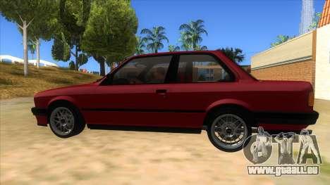 BMW M3 E30 1991 pour GTA San Andreas laissé vue