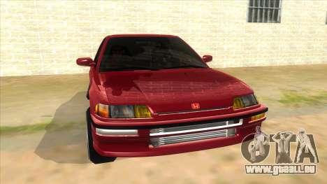 Honda Civic Ef Sedan pour GTA San Andreas vue arrière
