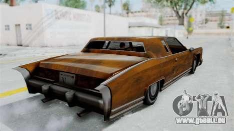 Vinyle Rouille pour Remington pour GTA San Andreas laissé vue