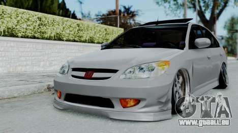 Honda Civic 2002 Model Vtec1 pour GTA San Andreas