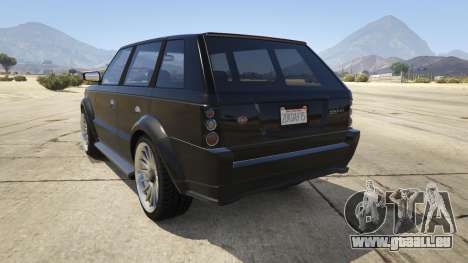 GTA 5 GTA IV Huntley arrière vue latérale gauche