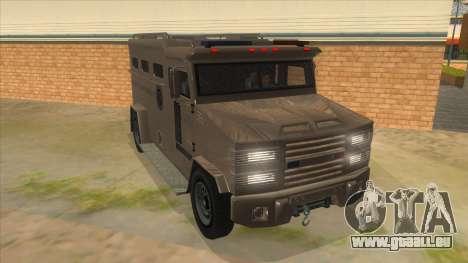 GTA 5 Brute Riot Police pour GTA San Andreas vue arrière