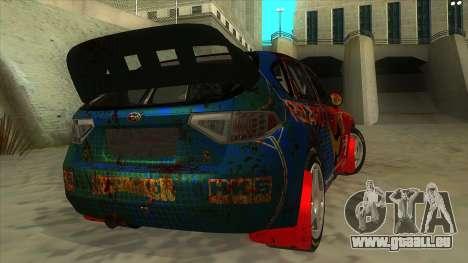 Subaru Impreza WRX STi 2011 ,,Response,, für GTA San Andreas rechten Ansicht