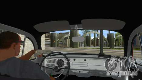 Volkswagen Beetle Aircooled V2 für GTA San Andreas Innenansicht