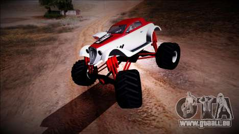GTA 5 Hotknife Monster Truck pour GTA San Andreas laissé vue