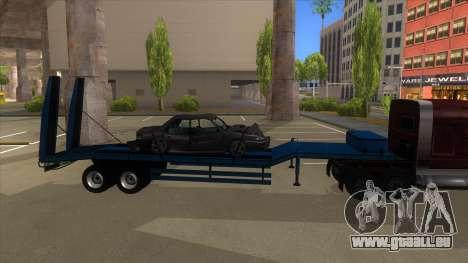 Trailer with Hydaulic Ramps pour GTA San Andreas sur la vue arrière gauche
