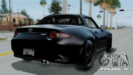 Mazda MX-5 Miata 2016 pour GTA San Andreas laissé vue