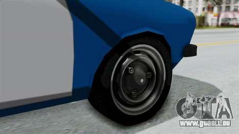 Dacia 1300 Police für GTA San Andreas zurück linke Ansicht