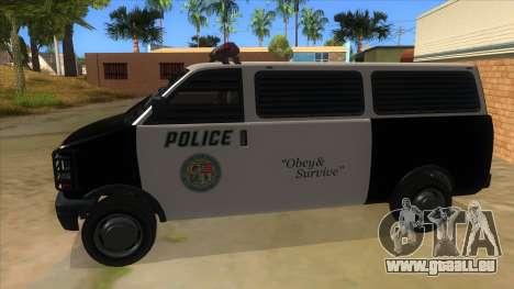 GTA 5 Burrito Transport für GTA San Andreas linke Ansicht
